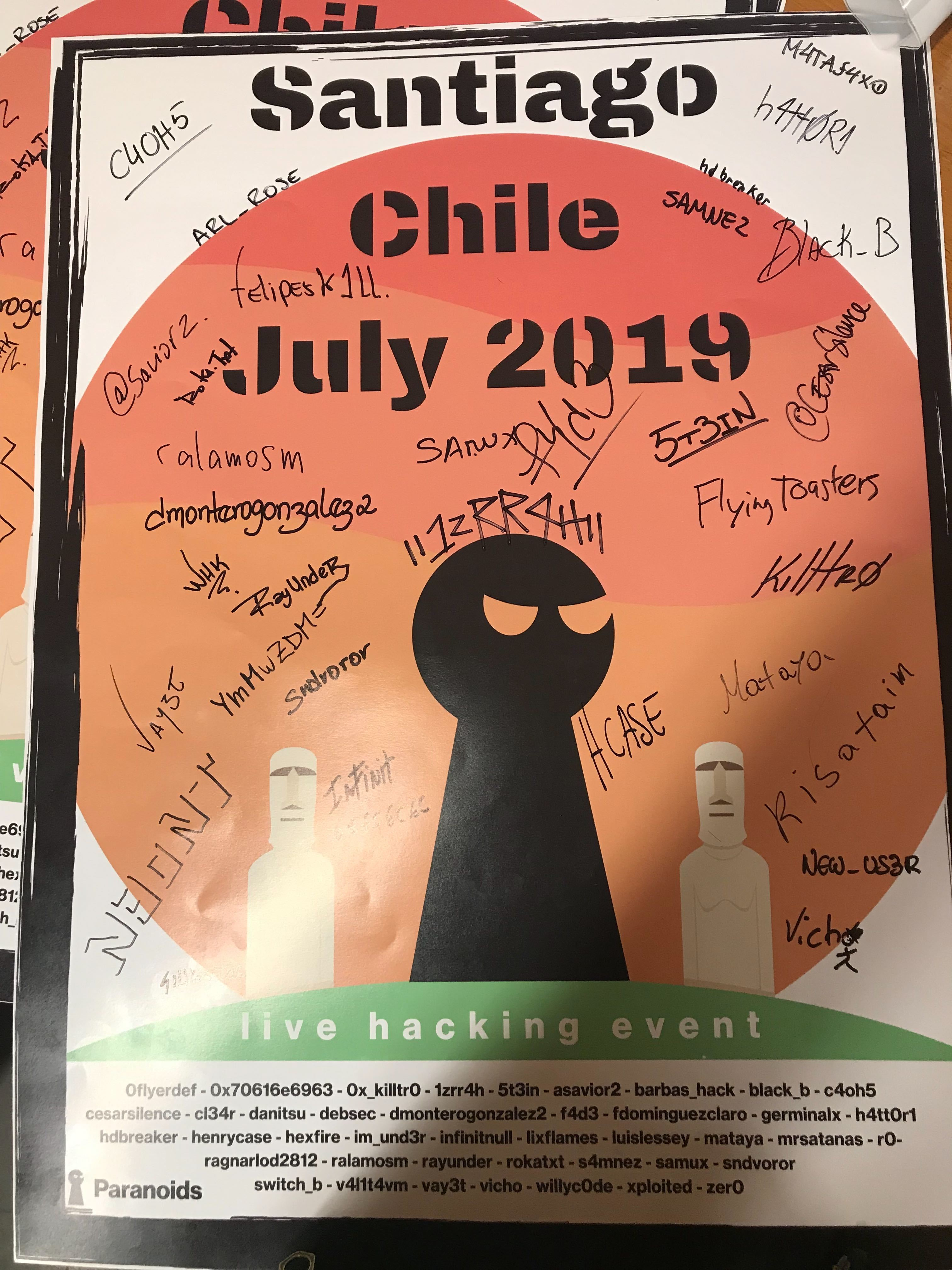 The organizers earned a signed copy of the event poster that all participants took home.