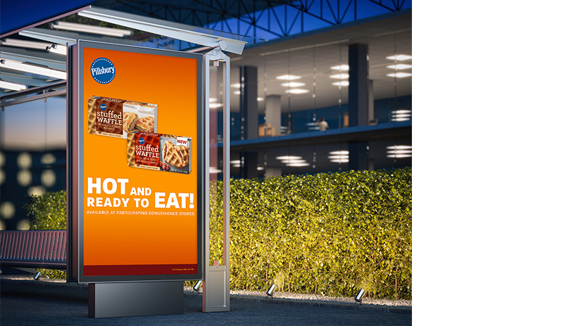 Pillsbury Hot and Ready DOOH ad