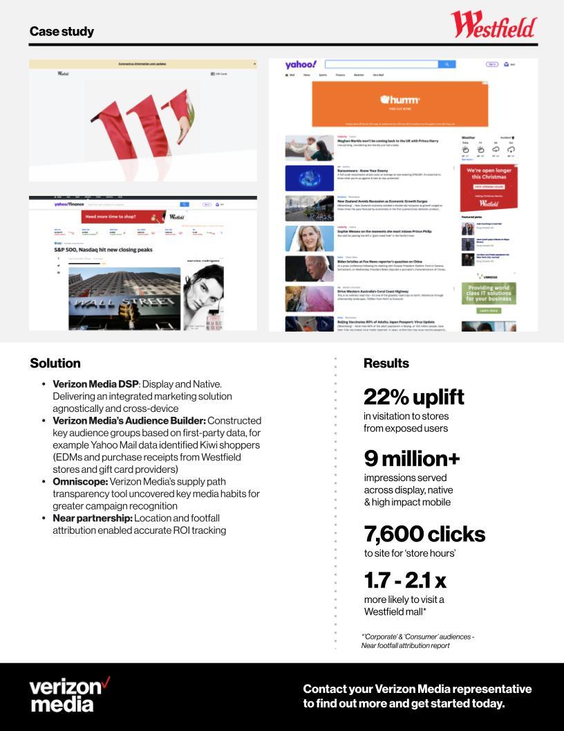 Verizon Media NZ x Westfield case study