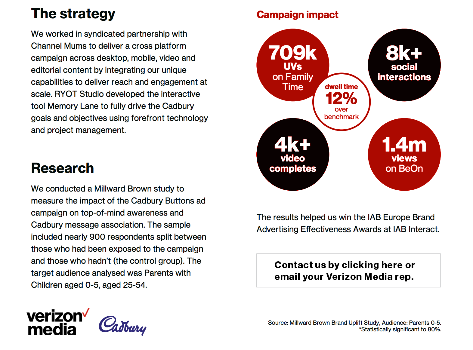Cadbury - Verizon Media - The Strategy