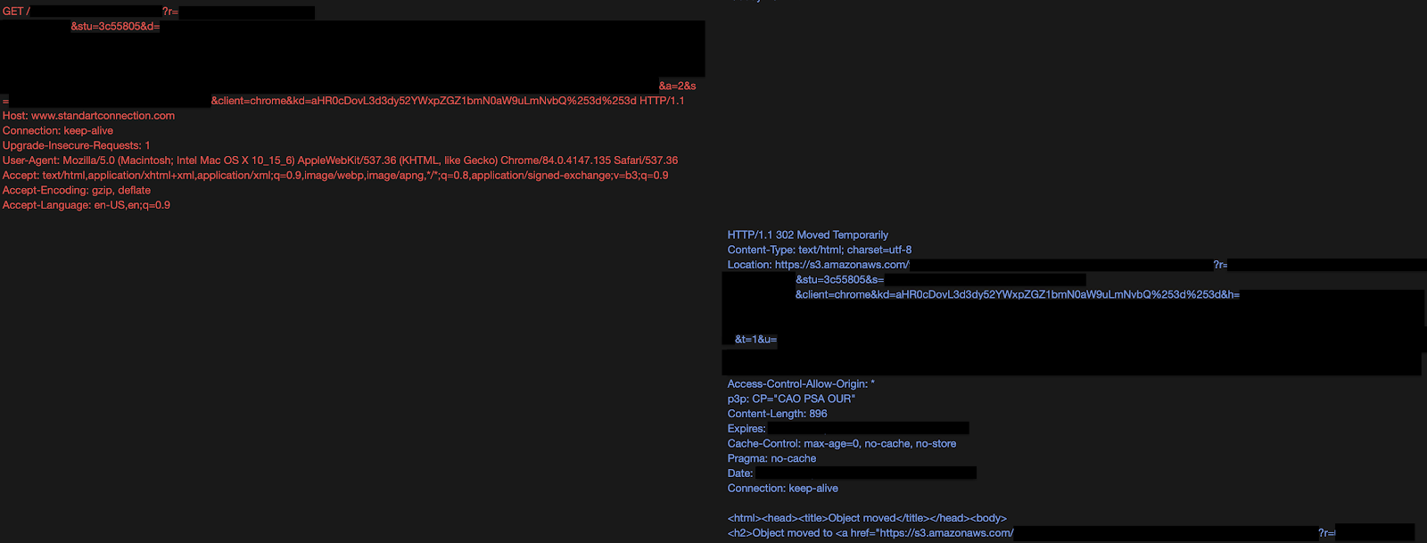 Screenshot from Arkime full packet capture.