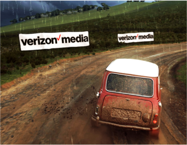 Racing game Verizon Media advert