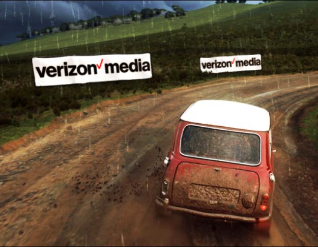 Racing game Verizon Media advert