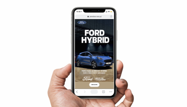 Smartphone with Ford ad