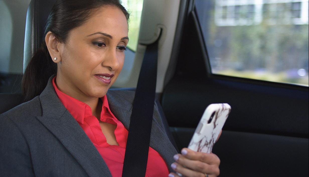 Business woman on mobile