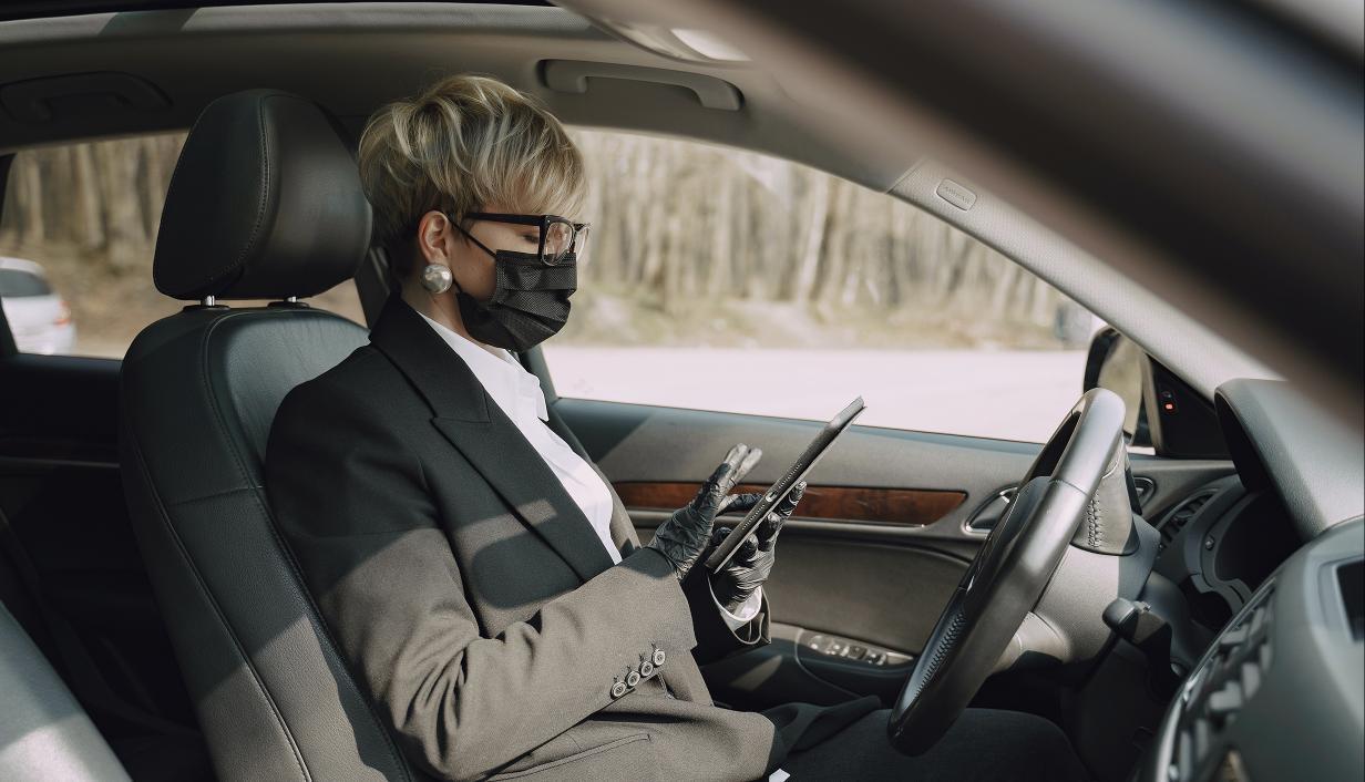 Mujer en el interior de su coche