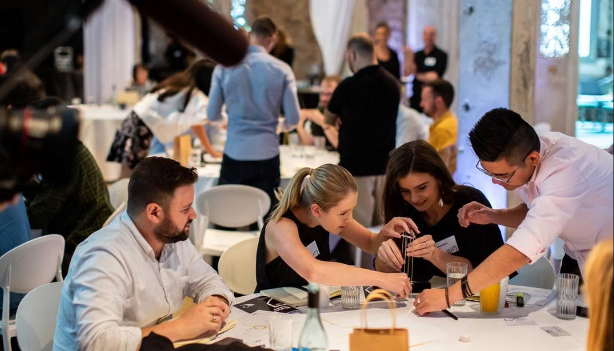 People at workshop during Verizon Media Academy 2019
