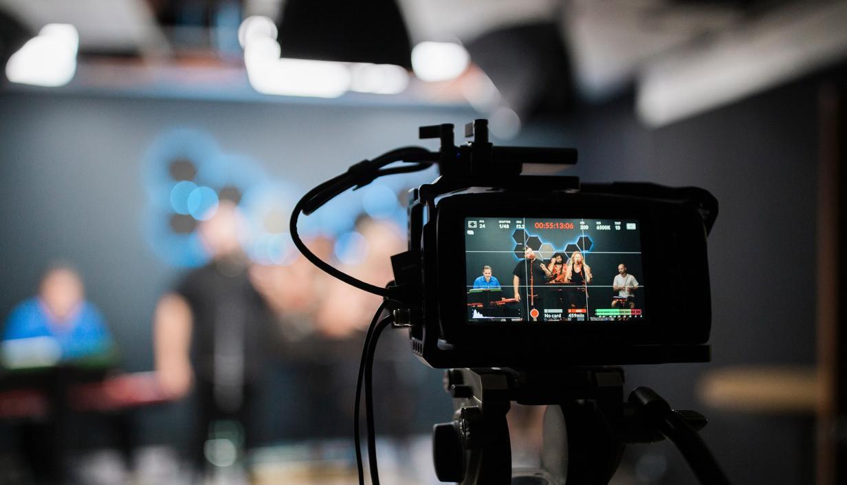 imagem de camera de gravação