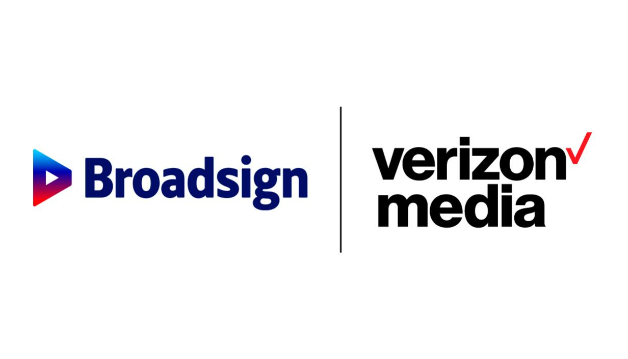 Broadsign and Verizon Media logo