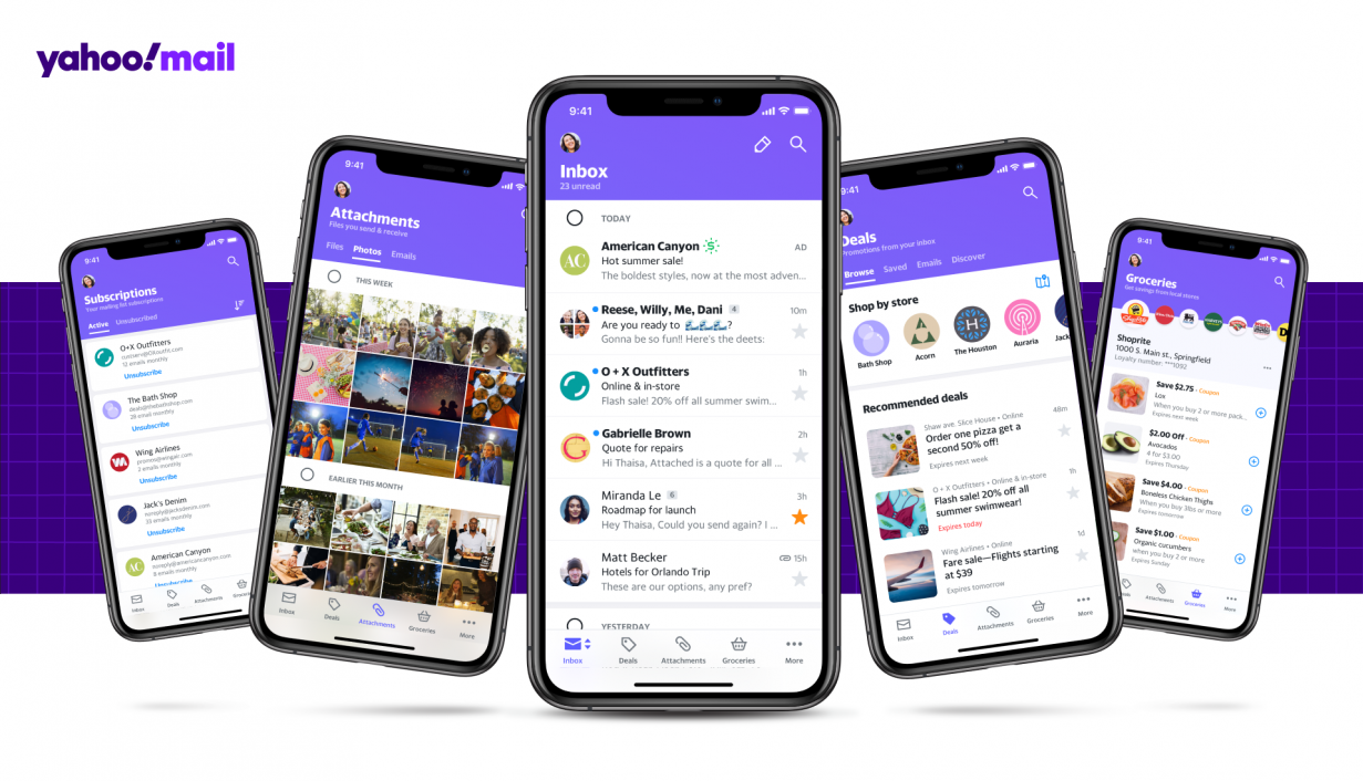 Yahoo Mail product screenshots