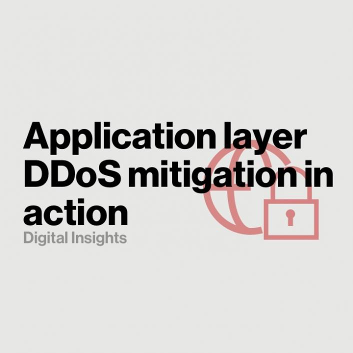Application layer DDoS mitigation in action