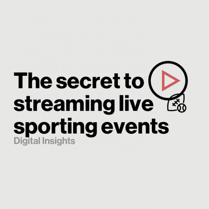 How a best-in-class OTT platform streams live sporting events