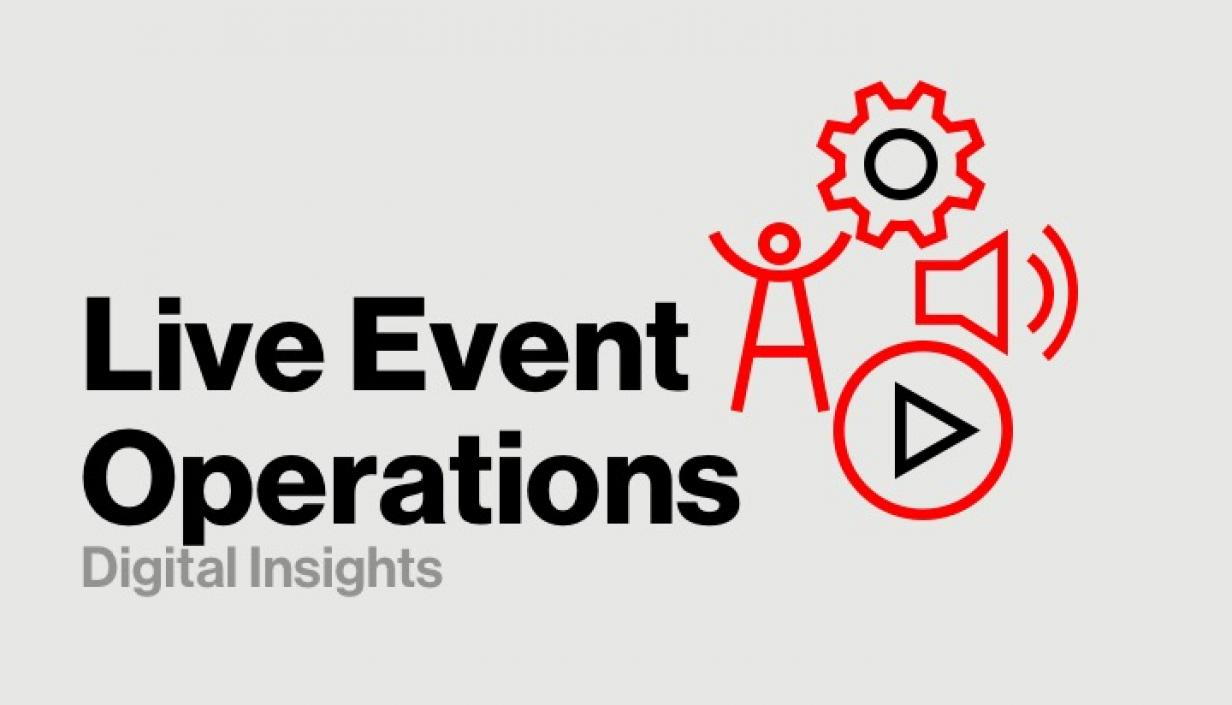 Live Event Streaming Made Easy with our Live Event Operations Service