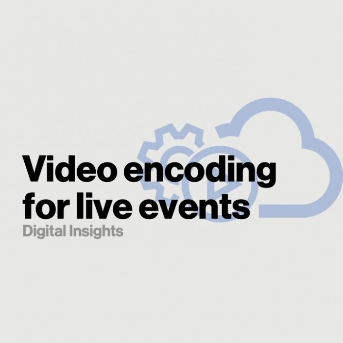 Video encoding in the cloud to stream large-scale live events