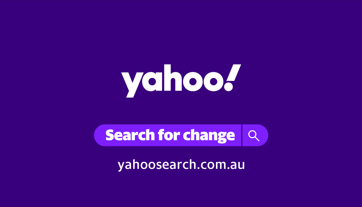 yahoo search for change logo