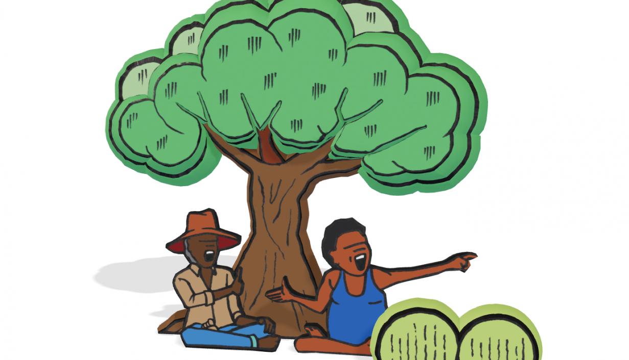 Blak Douglas' illustration from 'Finding our heart'